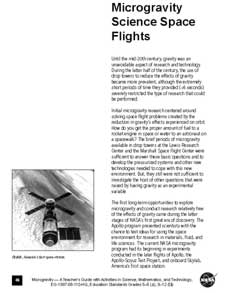 First page of Microgravity Science Space Flights