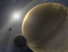 Artist's concept of a young solar system