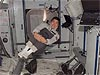 Astronaut Daniel Tani floats inside the space station