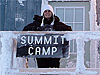 Lisa Koenig at the Greenland Summit camp
