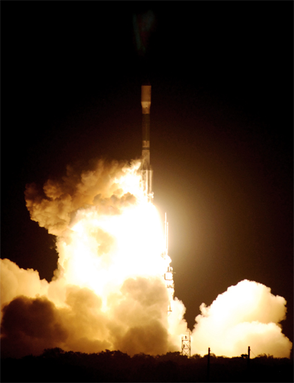 Liftoff of the Delta II rocket and Kepler spacecraft