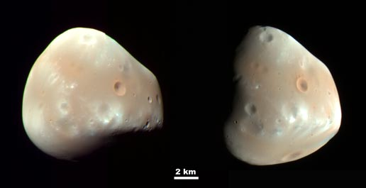 color-enhanced views of Deimos