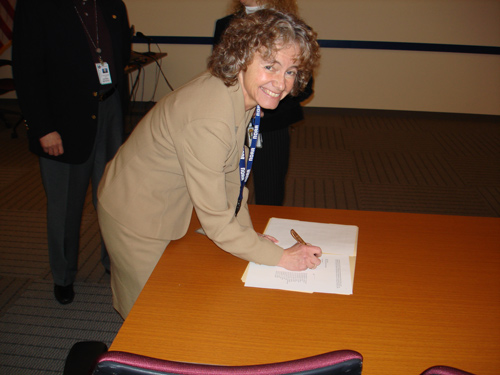 image of Kathleen A. Kelly signing concurrence to the letter from Mary S. Walker.