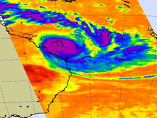 AIRS image of Tropical Cyclone Hamish taken on March 10, 2009