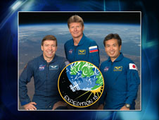 Expedition 19 Flight Engineer Michael Barratt, Commander Gennady Padalka and Flight Engineer Koichi Wakata