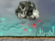 Still from animation on the Atlanta tornado