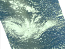 AIRS visible image of Tropical Cylone Joni on March 11, 2009
