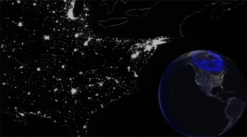 Artists rendition of the March 13, 1989 blackout