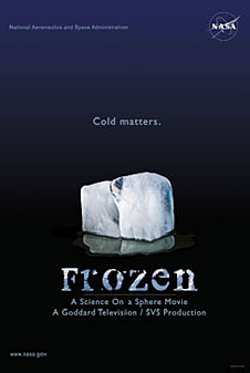 The 'Frozen' movie poster features an ice cube and the slogan 'Cold Matters'