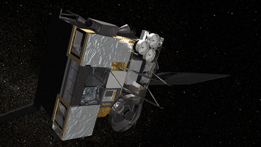 Artist's concept of GOES-O in orbit.