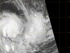 satellite image of storm 22S