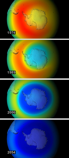 Southern Hemisphere ozone levels in a worst-case simulation