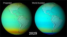 image showing global ozone levels according to different models
