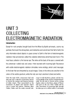 First page of the Collecting Electromagnetic Radiation Unit