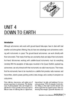 First page of the Down to Earth Unit