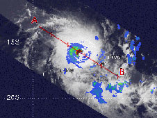 TRMM image of Ilsa taken on March 20, 2009