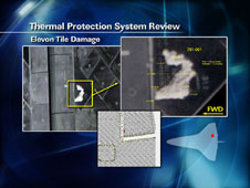 Elevon Tile Damage