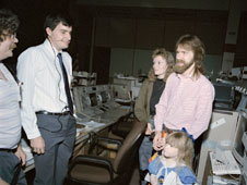 Shelton family visits Mission Control in 1990