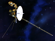 Artist rendering of Voyager spacecraft