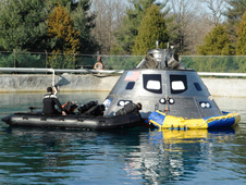 Orion spacecraft mock-up testing