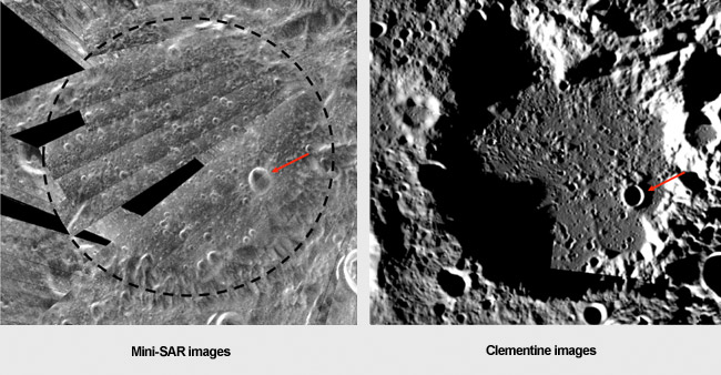 The large, ancient crater Hermite