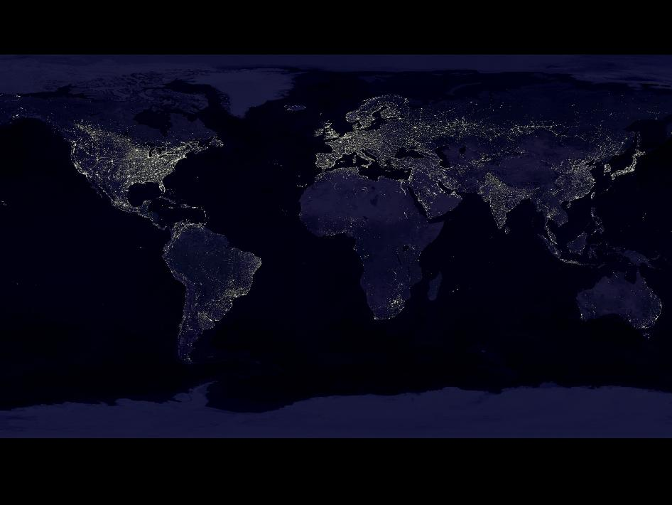 image of Earth's lights at night