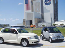 Hybrid Technologies worked with Kennedy Space Center in the testing and development of its line of electric vehicles.