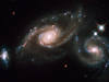 Hubble image of ARP 274 triplet galaxies