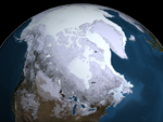 image showing 2009 Arctic sea ice maximum