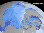 image depicting Arctic sea ice cover