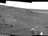 Spirit used its navigation camera to take the images combined into this 210-degree view of the rover's surroundings during the 1,861st to 1,863rd Martian days, or sols, of Spirit's surface mission