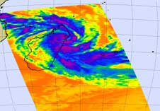 AIRS image of Tropical Cyclone Jade