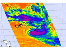 AIRS image of Tropical Cyclone Lin