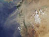 Dust plume over the eastern edge of Mediterranean Sea