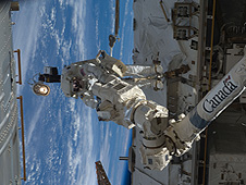 Richard Arnold spacewalking on STS-119 mission
