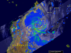 TRMM image of Tropical Cyclone Jade on 4/6/09