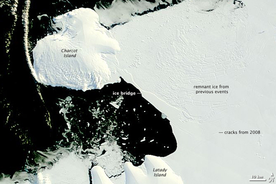 image of Wilkins Ice Shelf remnant