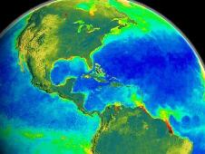 SeaStar image showing global biomass data