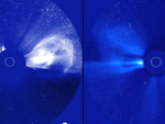 Visualization of a coronal mass ejection event on December 12-13, 2008 as seen simultaneously by the two STEREO spacecraft