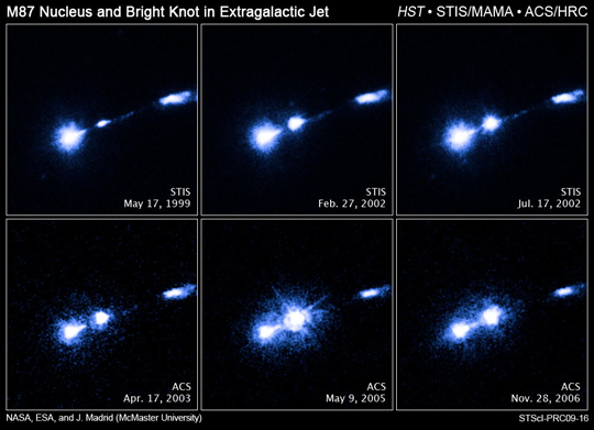 Hubble images of M87