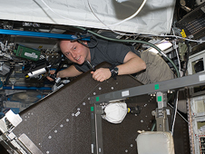 ISS018-E-011530 -- Expedition 18 Commander Michael Fincke