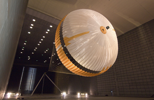 NASA's Mars Science Laboratory parachute being tested