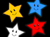 Cartoon drawing of several smiling stars