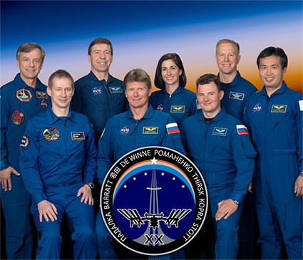 ISS020-S-002 -- Expedition 20 crew portrait