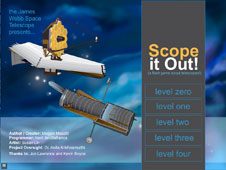 Front screen of the Scope it Out game