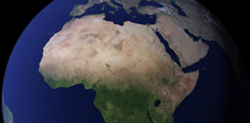 Blue Marble image of Africa
