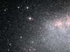 Hubble image of a starburst in a dwarf galaxy