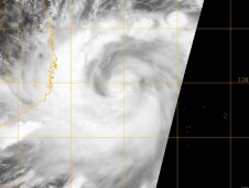 Visible image of Chan-Hom was captured byNASA's Terra satellite