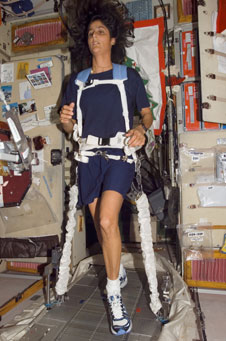 Sunni Williams on International Space Station