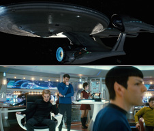 Scenes from the 2009 Star Trek film. Courtesy Paramount